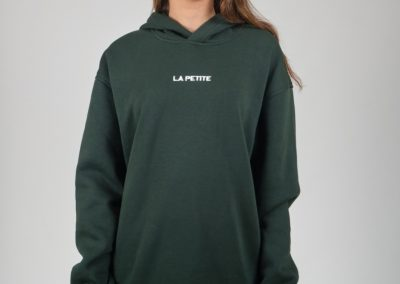 Yeşil Kapşonlu Sweatshirt