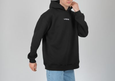 Siyah Kapşonlu Sweatshirt